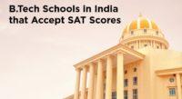Indian B.Tech schools that accept SAT Score